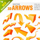 90 Pieces 3D arrows - GraphicRiver Item for Sale