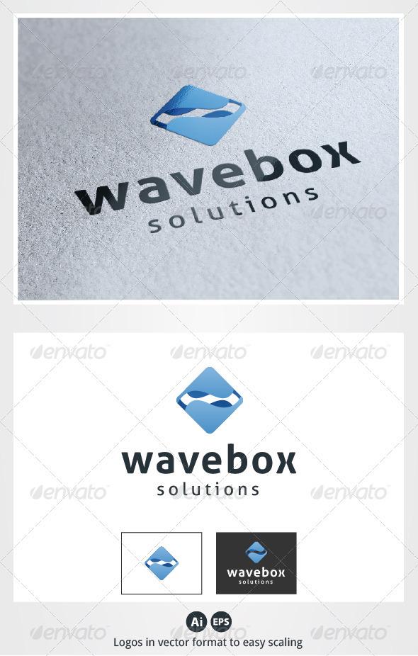 Wave Box Logo - Symbols Logo Templates