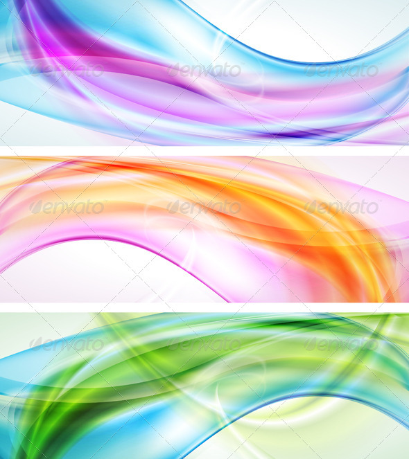 Bright elegant banners - Abstract Conceptual