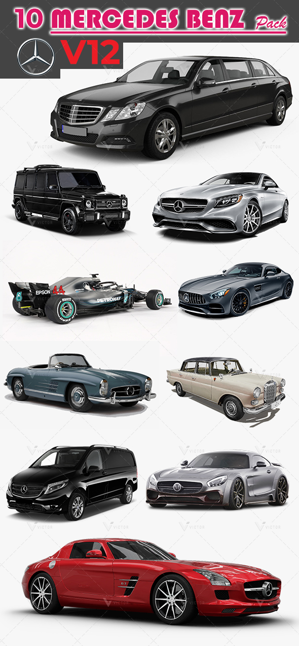 10 Mercedes Pack V12