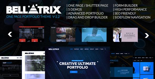 Bellatrix | WordPress Portfolio Theme - Shutter One Page