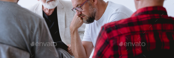 Group psychotherapy for men - Stock Photo - Images
