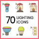 70 Lighting Icons | Hazel Series