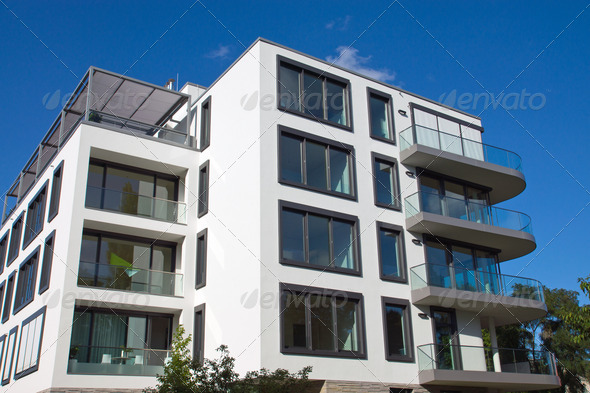 Modern house in Berlin - Stock Photo - Images