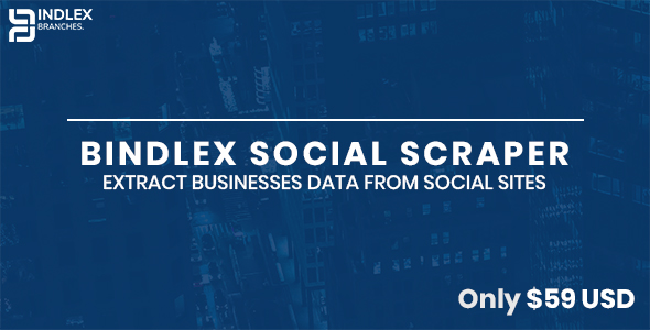 Bindlex Social Scraper - Extract businesses data from social sites