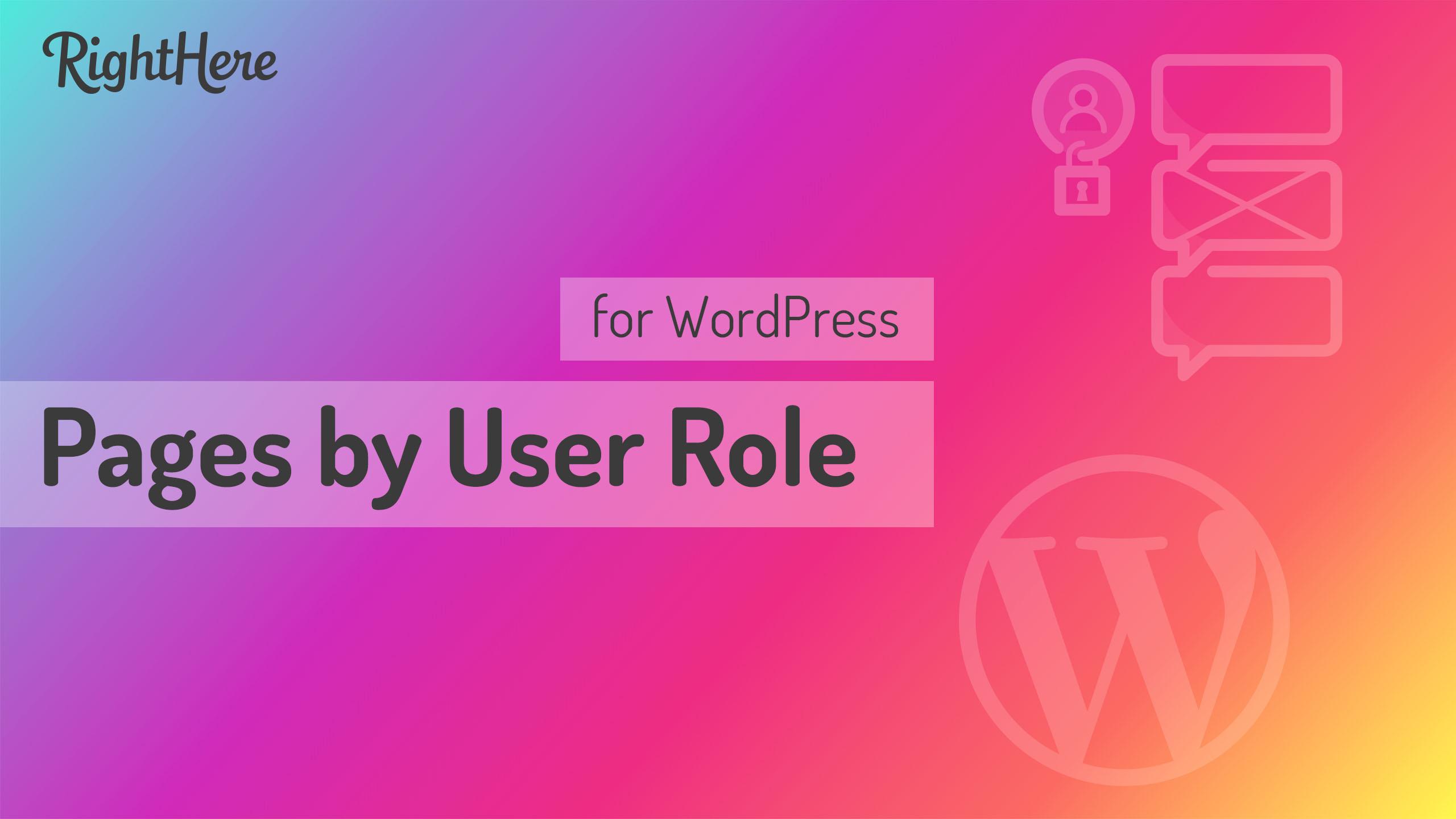 【汉化插件】Pages by User Role for WordPress 页面内容分类访问限制插件 v1.5.0-WordPress汉化资源