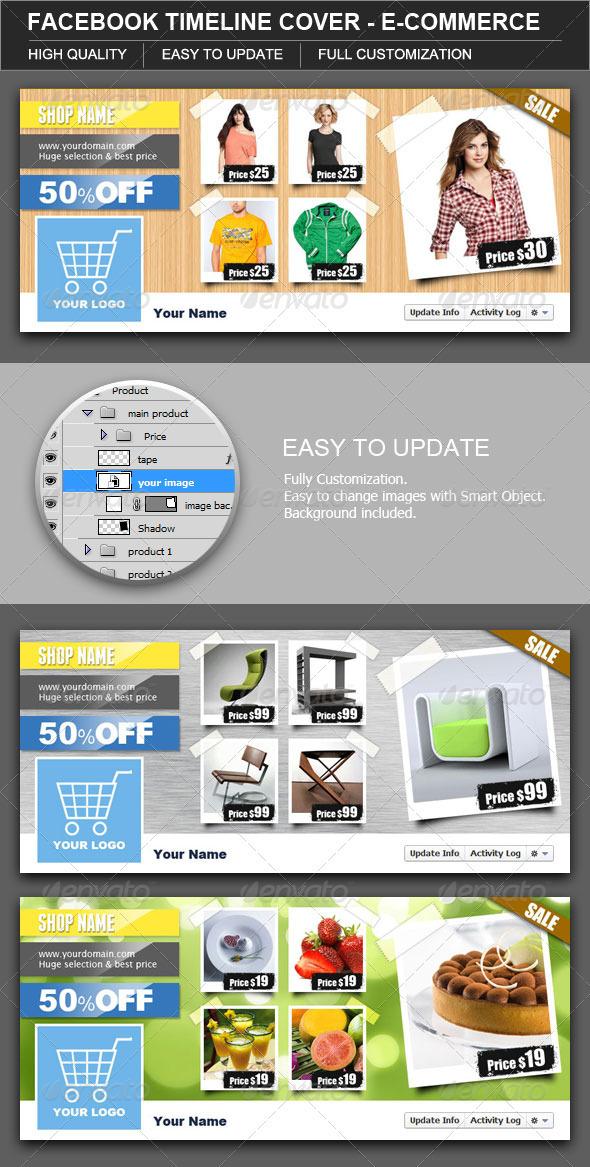 Facebook Timeline Cover E-Commerce - Facebook Timeline Covers Social Media
