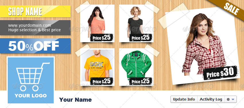 Facebook Timeline Cover E Commerce By Pophonic Graphicriver