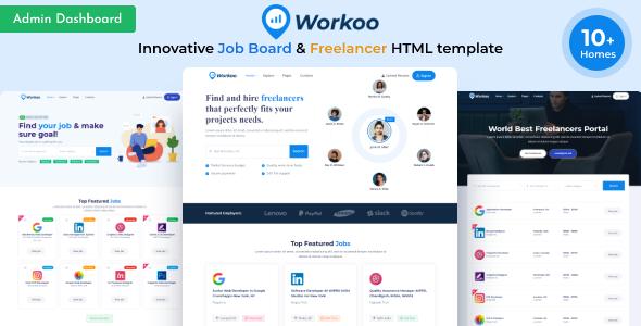 Workoo - Job Board & Freelancer Marketplace  HTML Template