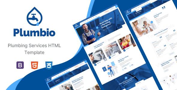 Plumbio – Plumbing Services HTML Template