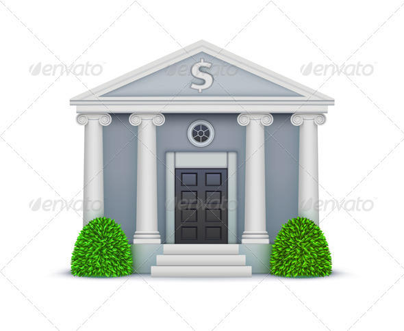 Bank icon - Buildings Objects