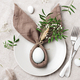 Festive Easter Table Setting with Bunny Ears - PhotoDune Item for Sale