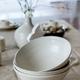 Set of empty craft white ceramic bowls - PhotoDune Item for Sale