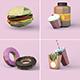 Low Poly 3D Food