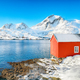 Captivating winter view of  fishing village on Sundstraumen strait - PhotoDune Item for Sale