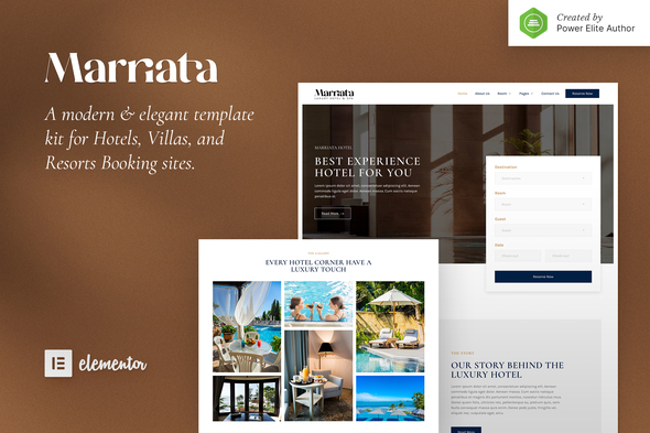 Marriata – Hotel & Resort Elementor Template Kit