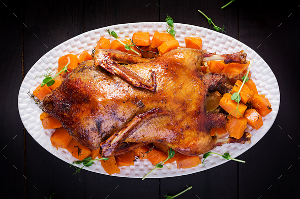 Homemade baked duck. - Stock Photo - Images