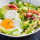Ketogenic, paleo diet. Fried egg, prosciutto, avocado and fresh salad.  Keto breakfast. Brunch. - PhotoDune Item for Sale