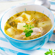 Chicken soup with noodles and vegetables in bowl. - PhotoDune Item for Sale
