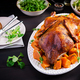 Thanksgiving or Christmas dinner. Roast duck with thyme and pumpkin - PhotoDune Item for Sale