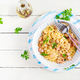 Classic homemade carbonara pasta with pancetta, egg, hard parmesan cheese - PhotoDune Item for Sale