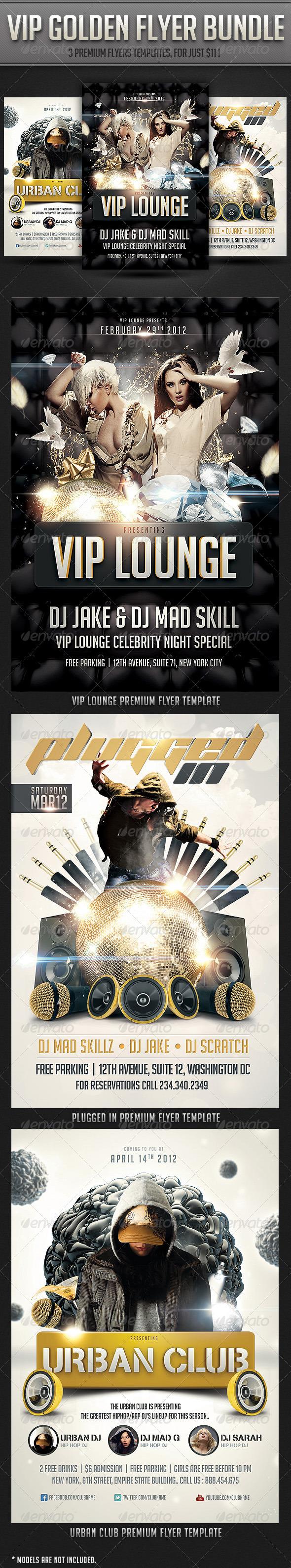VIP Golden flyer Bundle - Clubs & Parties Events