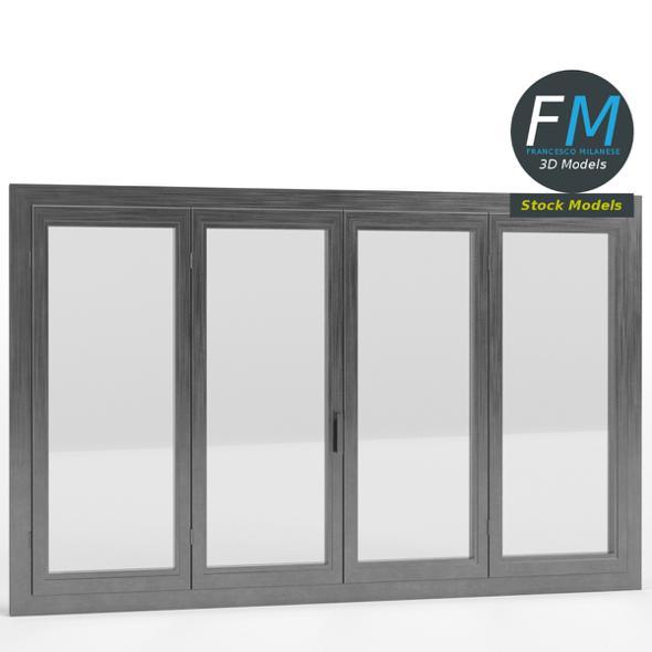 4 panels large window