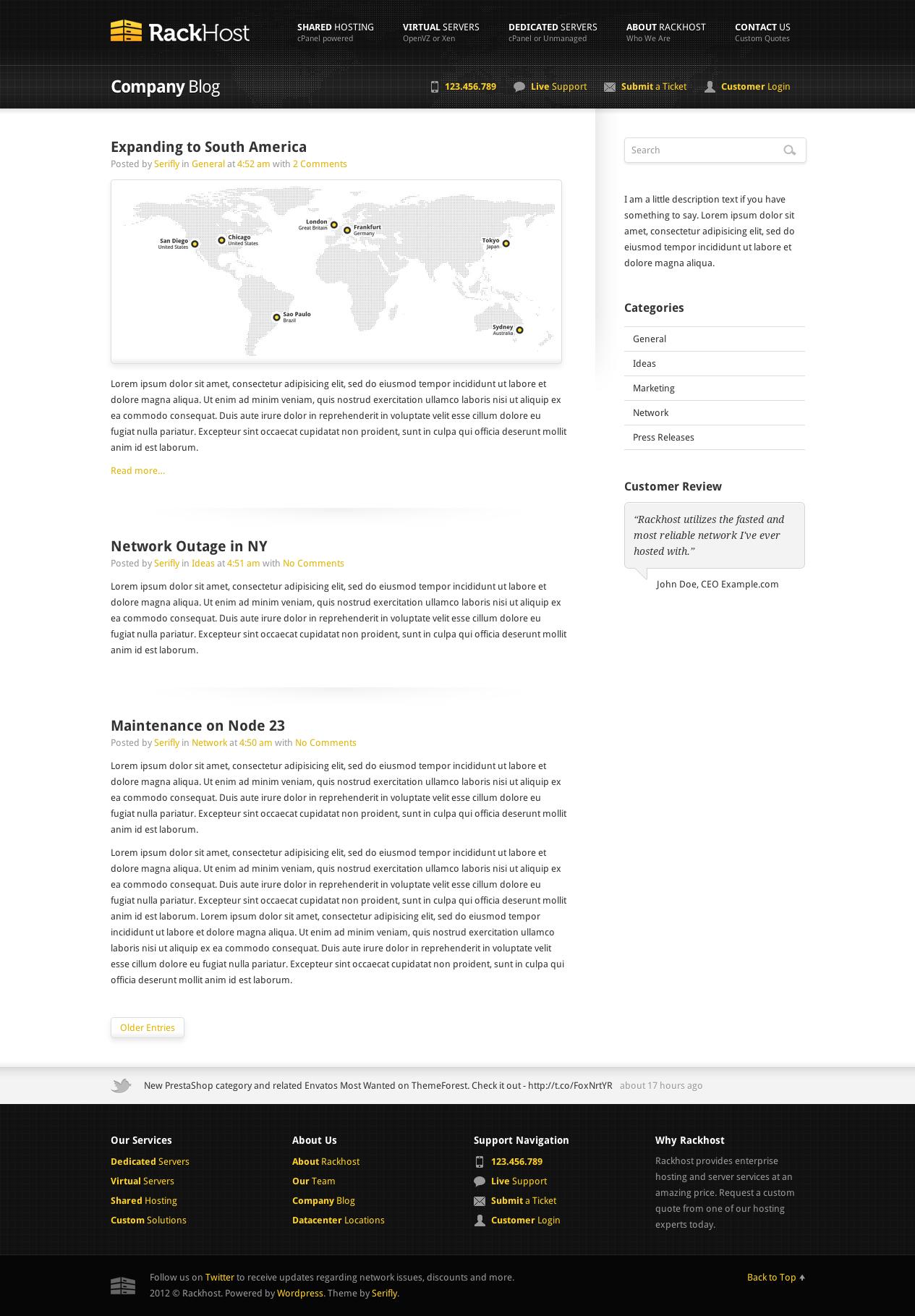 Rackhost Hosting WordPress Theme by Serifly | ThemeForest