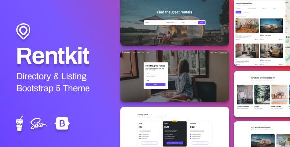 Rentkit – Directory & Listing Bootstrap 5 Theme