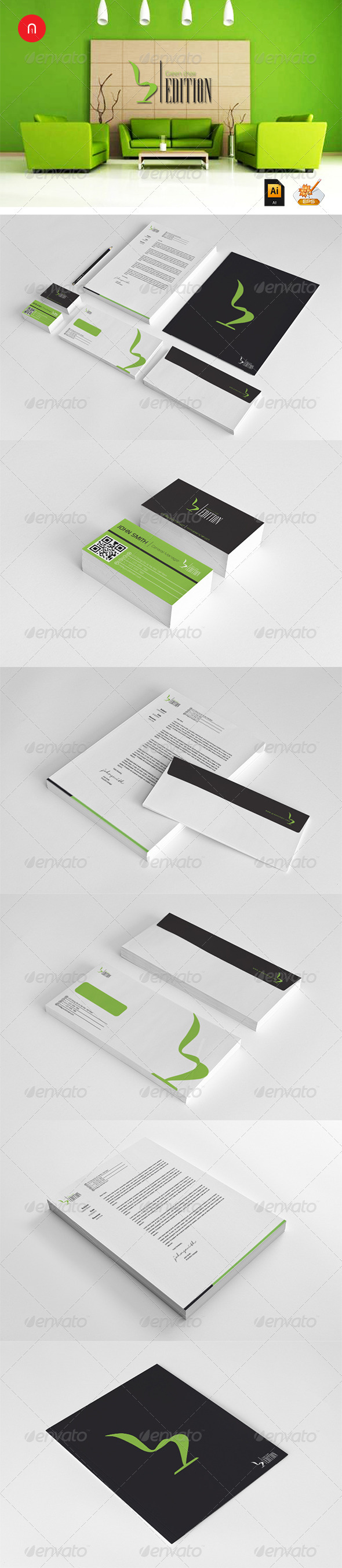 Green Chair Corporate Design - Stationery Print Templates