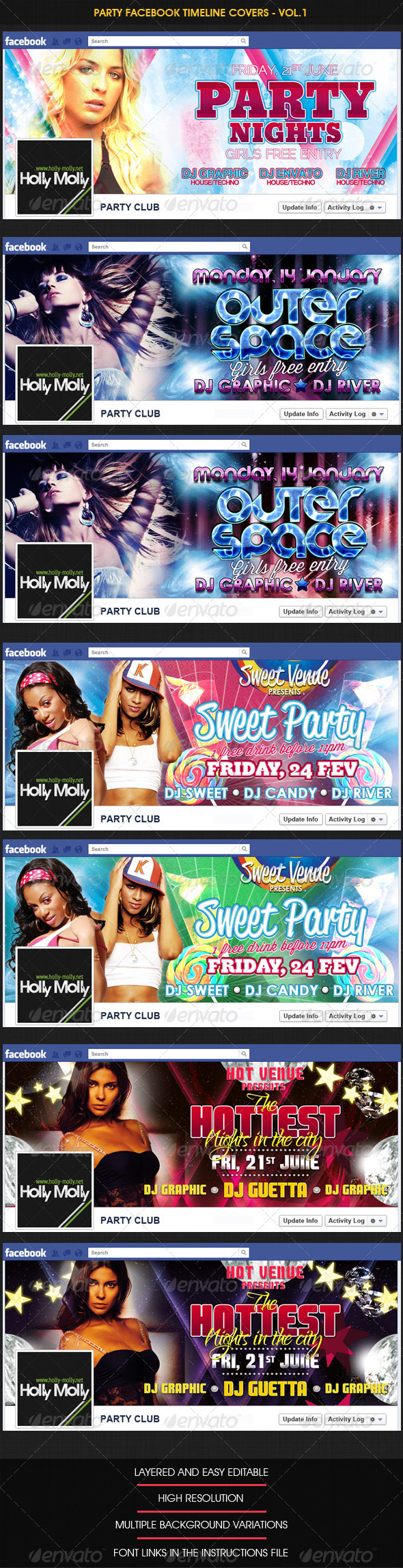 Party Facebook Timeline covers - Vol.1 - Facebook Timeline Covers Social Media