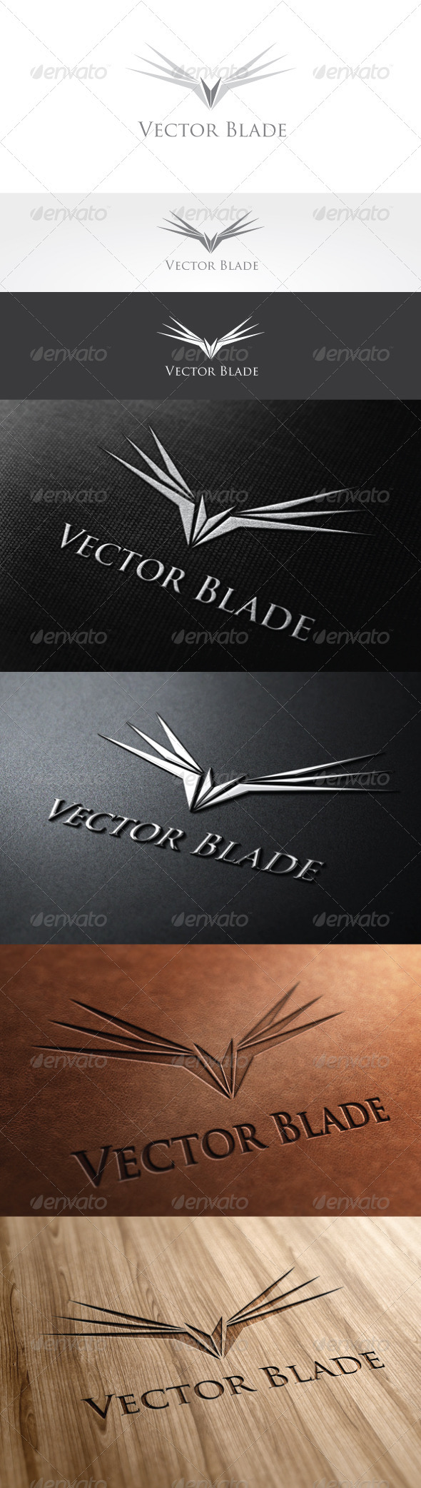 Vector Blade Logo Template - Letters Logo Templates