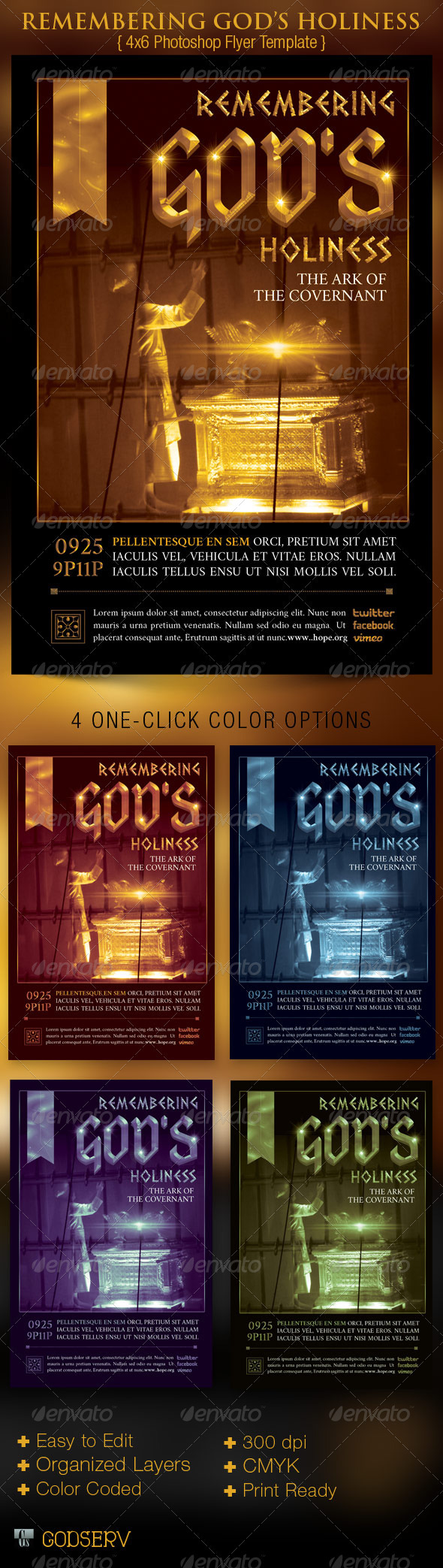 Holiness Church Flyer Template - Church Flyers