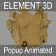 Element 3D(Aniamted) - Popup - Carton(Box)