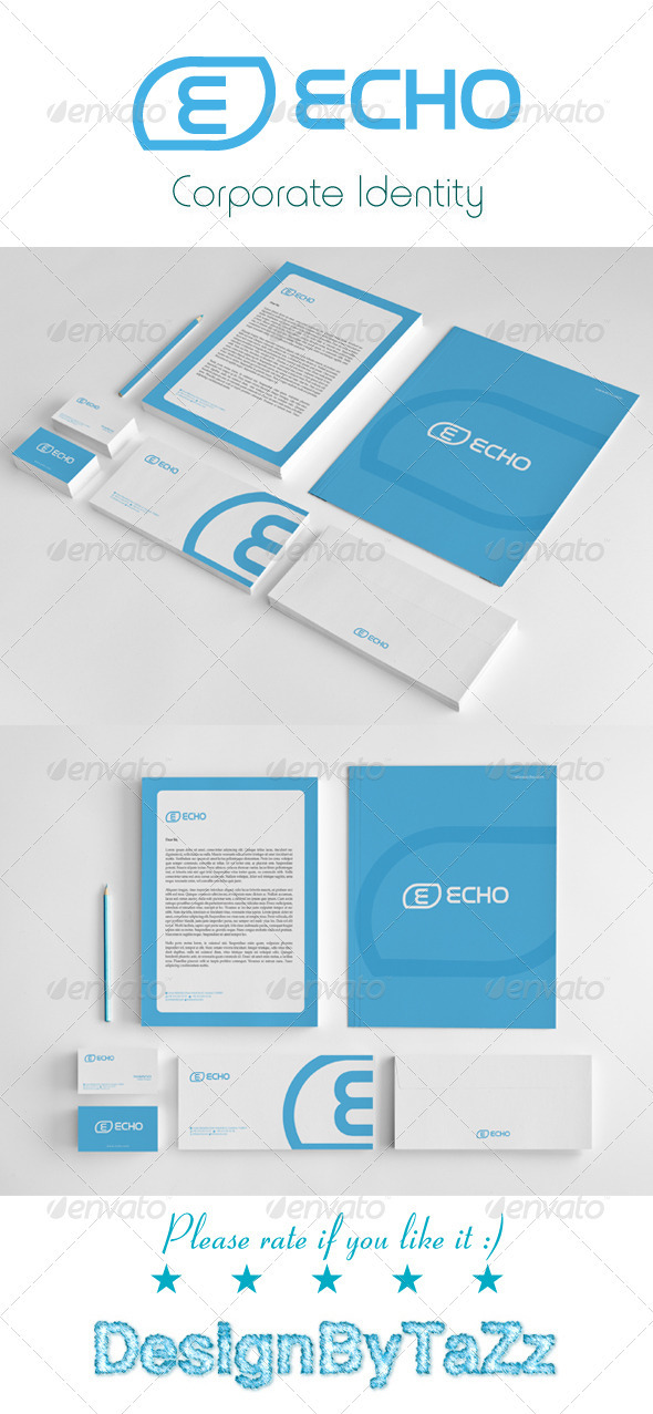 Echo Corporate Identity Package - Stationery Print Templates