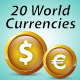World Currencies Glossy Icon - GraphicRiver Item for Sale
