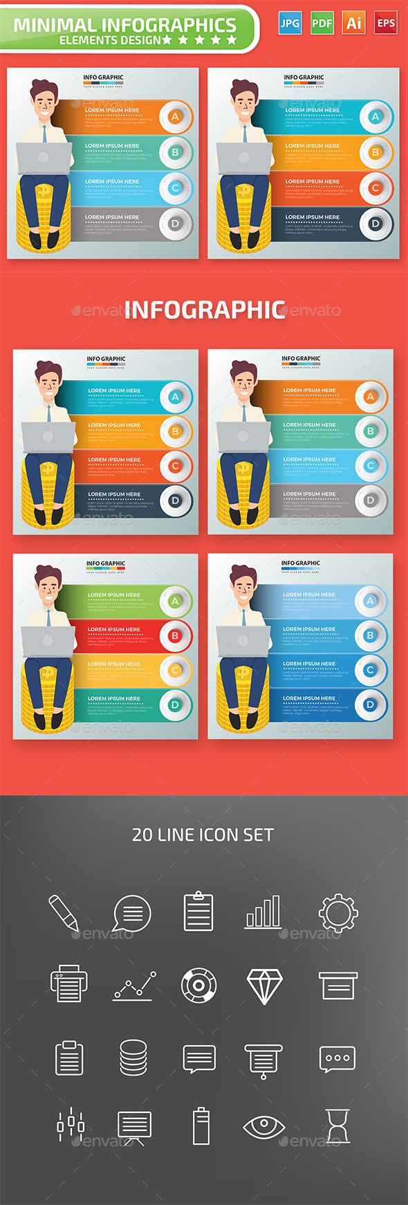 Businessman Infographic Design