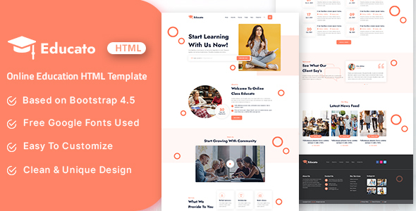 Educato – Online Education HTML Template
