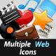 Multiple Web Icons - GraphicRiver Item for Sale