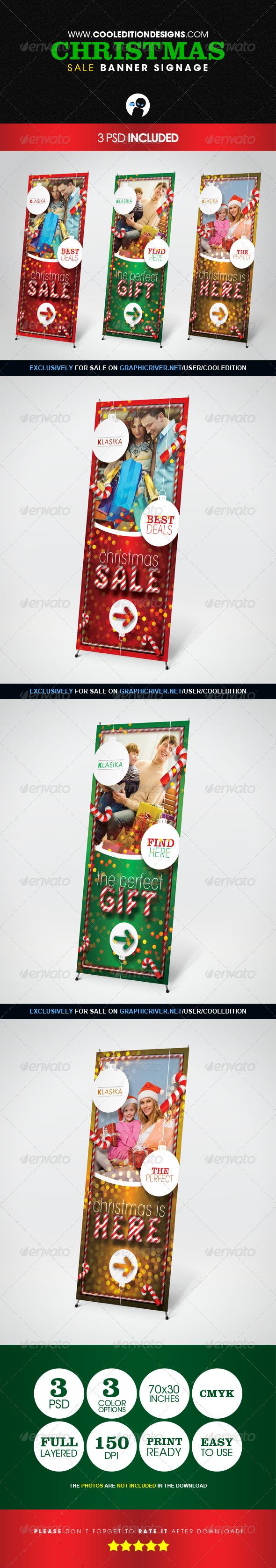 Christmas Sale Banner Signage - Signage Print Templates