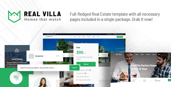 Awesome Real Villa - Real Estate HTML5 Template