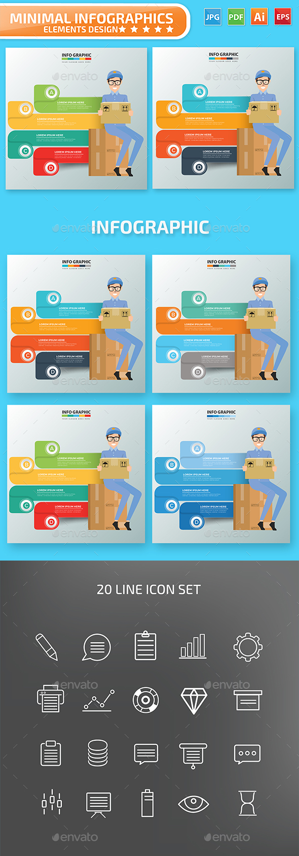 Delivery Infographics