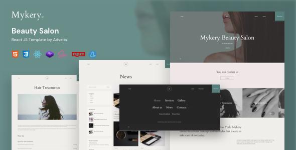 Super Mykery - Beauty Salon React JS Template