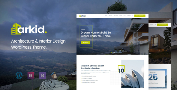 Extraordinary Arkid - Architecture and Interior Design WordPress Theme