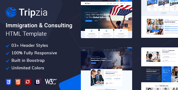 Special Tripzia – Immigration and Visa Consulting HTML Template