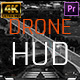 Drone Helicopter HUD UI Screens For Premiere Pro - VideoHive Item for Sale