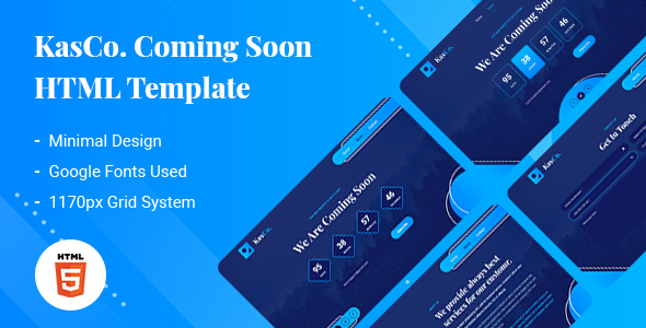 KasCo - Creative Coming Soon HTML5 Template