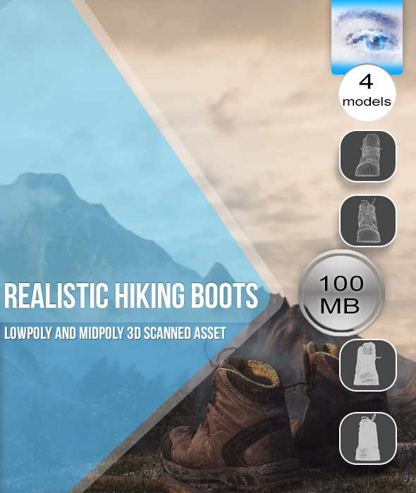 Realistic Hiking Boots