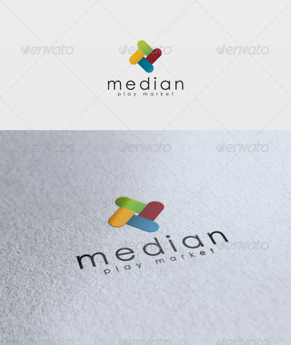 Median Logo - Vector Abstract