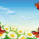 Butterfly and Flowers - GraphicRiver Item for Sale